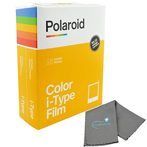 Polaroid Originals Instant Color Film for i-Type Cameras 2 Pack, 16 Instant Photos Bundle with a Lumintrail Cleaning Cloth