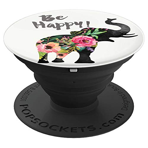 Optimistic Elephant - Phone Mount, Hand Holder Knob 6631 PopSockets Grip and Stand for Phones and Tablets