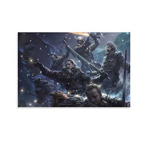 DRAGON VINES Juego de Tronos Noche Reloj Batalla Póster de pared Impresión Estándar Decoración de pared Hogar 30 x 45 cm