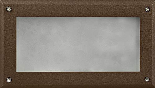 DABMAR LIGHTING DSL1001-BZ Recessed Open Face Brick/Step/Wall Light, Bronze