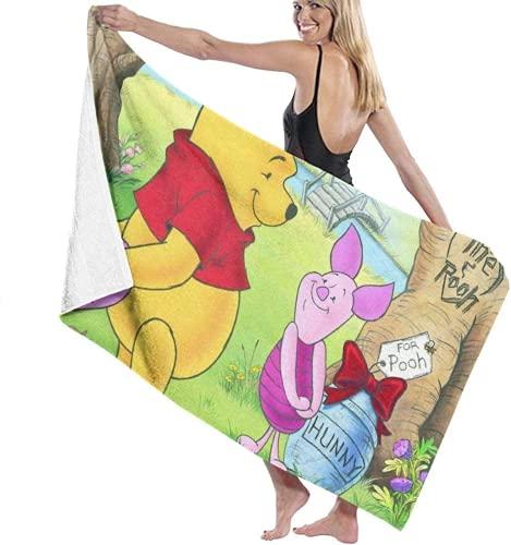 QWAS Winnie The Pooh - Toalla de playa para niños, diseño de dibujos animados de Winnie the Pooh (2,70 x 140 cm)