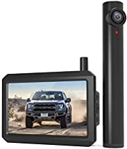 AUTO-VOX TW1 Truly Wireless Backup Camera, 5Mins DIY Installation, 720P Super Night Vision Rear View Camera and 5'' Monitor with Digital Signal, 2 Channel Support to Monitor/Reverse for Truck/Car/RV