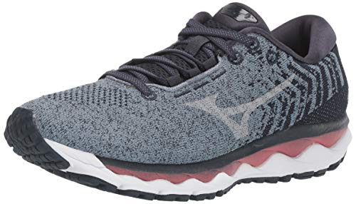 Mizuno Women's Wave Sky WAVEKNIT 3 Running Shoe, citadel-vapor blue, 8.5 B US
