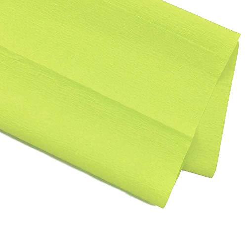 PAPEL PINOCHO STARPLAST - Pack de 6 Papel crepé o pinocho, 50 x 200 cm, para manualidades, decoración o fiestas - Verde flúor