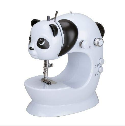 Panda Mini Sewing Machine Portable Sewing Machine with Foot Pedal Small Household Sewing Tool with Thread Cutter Double Speed Control Sewing Machine with Built-in Lighting Lamp for Beginners or Pros -  INTSUN, A-0138