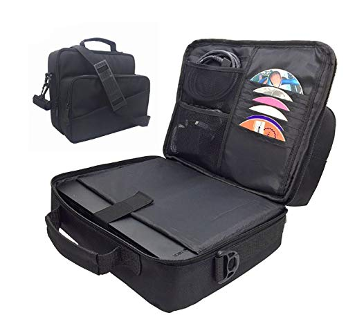 Beracah Travel Carry Bag Case with CD Storage Compatible for Xbox One X Console