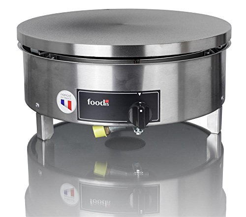 Foodis- -Krampouz Crepera Gas Gama estandar 40cm Ronda Manual de Gas