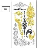 JIEIIFAFH Un Conjunto de 6 Tatuajes temporales se Puede Utilizar como una Pulsera Adhesiva Estampado en Caliente Impermeable Etiqueta engomada del Tatuaje (Color : 6-Piece Set)