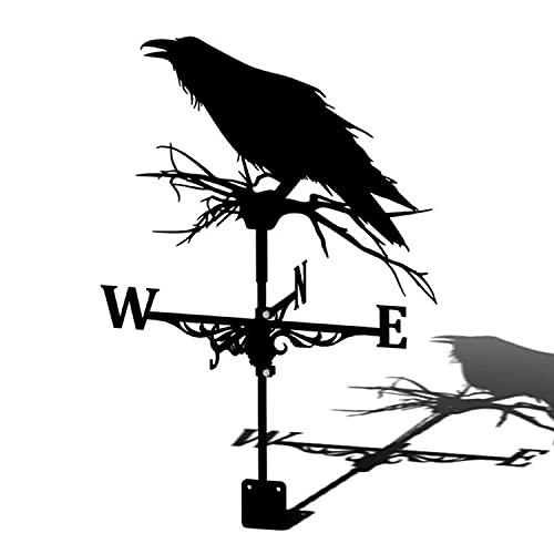 LUBENWEI Veleta de Viento Decorativa Acero Inoxidable Veleta de Jardín Herramienta de Medición de Tejados de Jardín con Indicador de Dirección de Viento Decoración Artística de Hierro