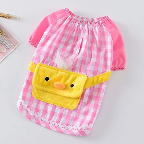 SUNXK 2019 nieuwe cartoon korte mouwen jas huisdier kleding voorjaar en de zomer toevallige korte mouwen trui jurk cute voeten SUNXK (Color : Pink, Size : M)