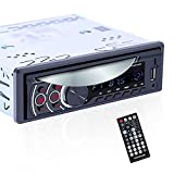 UNITOPSCI Single Din Car Stereo with DVD Player in-Dash DVD Player Support Bluetooth AUX in/USB/SD Card/CD/DVD/Car MP3 Player FM Radio Video Output Wireless Remote Control Video Receiver
