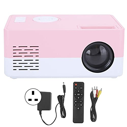 OHHG Caja Mini proyector, Mini proyector LED, proyector Video Cine casa portátil Alta definición 1080p, Entretenimiento al Aire Libre interfaces HDMI USB AV