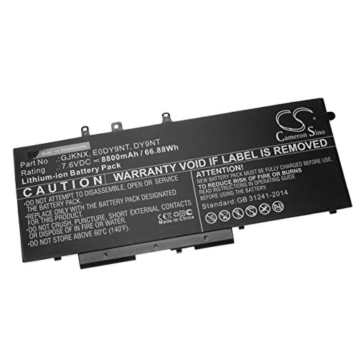 vhbw Battery compatible with Dell Latitude N043L5590-D1516FCN, N049L5590-D1616FCN, N071L5490-D1516CN Laptop (8800mAh, 7.6V, Li-Ion, black)