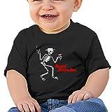 BCOWBONEOWGDF Baby Boy Girl Clothes Newborn Toddler Social Distortion T Shirt Black