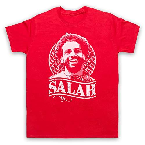 Camiseta para hombre, diseño de Hígado Mohamed Mo Salah Rojo rosso M
