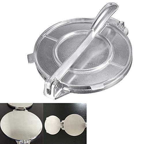 8 Inch Tortilla Press w/Foldable Handle, Non-Stick Aluminum Tortilla Maker Press Pan for make Homemade Tortillas or Tacos, Kitchen Bakeware Accessories Pie Make Press Tool