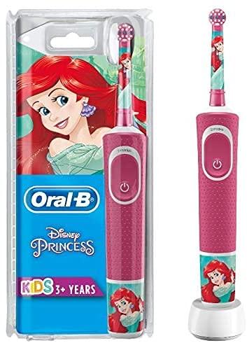 Oral-B Kids Prinzessin Elektrische Zahnbürste für Kinder ab 3 Jahren, kleiner Bü...