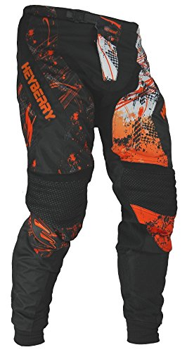 Heyberry Motocross Enduro Quad Hose schwarz orange Gr. XL