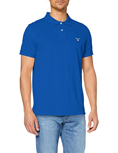 GANT Herren The ORIGINAL Pique SS Rugger Poloshirt, Blau (Nautical Blue 422), Large