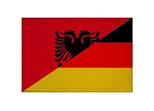 U24 Aufnäher Albanien-Deutschland Fahne Flagge Aufbügler Patch 9 x 6 cm
