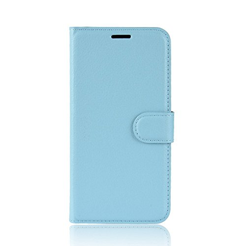 jbTec Handy Hülle Hülle - Handyhülle Schutzhülle Phone Cover Tasche Handytasche Zubehör Smartphone Klapphülle Flip, Farbe:Baby-Blau, passend für:BQ Aquaris X2 / X2 Pro