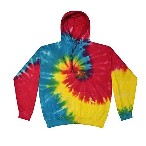 Colortone Tie Dye Hoodie MD Reactive Rainbow