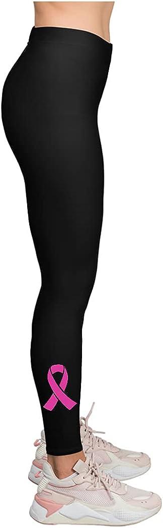 Tstars Breast Cancer Yoga Pants Running Workout Leggings for Women