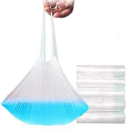 Riduttore WC per vasino, usa e getta, confezione da 50sacchetti per vasino da viaggio, universale, con coulisse plastica