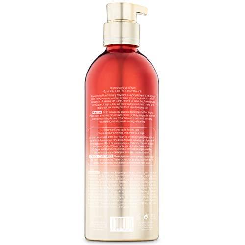 41THj5ND6WL - Makari Velvet Rose Advanced Intense Smoothing Body Lotion | Anti-Aging Moisturizing, Brightening & Firming Cream w/Guarana, Rosehip Oil, Pomegranate & Collagen | For Cellulite & Stretchmarks | 16.8oz