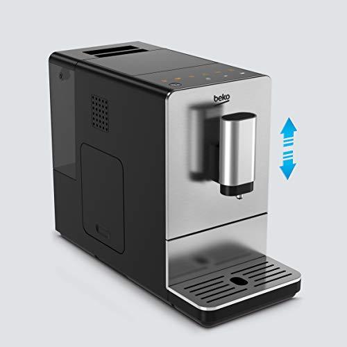 Beko CEG5301X espressomachine met geïntegreerde koffiemolen, roestvrij staal