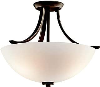 Kichler 42563OZ Granby Semi-Flush 3-Light, Olde Bronze