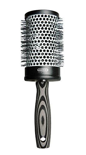 Titania Sèche-cheveux Well Brosse avec poignée en mousse, gris/noir, diamètre 7 cm, 1er Pack (1 x 96 g)
