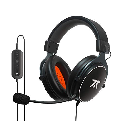 Fnatic React + Gaming-Headset für den Esport mit 53-mm-Treibern, 7.1-Surround-Sound und erweiterter USB-Soundkarte [Windows kompatibel]