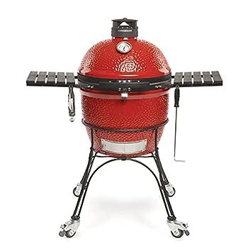 Kamado Joe KJ23RHC Classic II Ceramic Charcoal Grill 18 inch Blaze Red