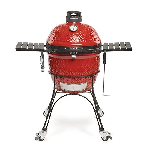 Kamado Joe KJ23RHC Classic Joe II Charcoal Grill, 18 inch, Blaze Red