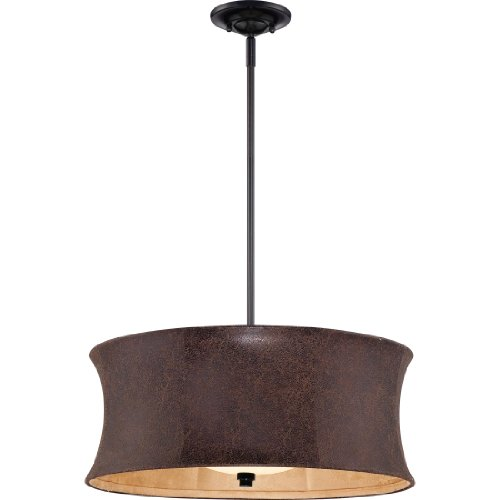 Quoizel CKSR2820K Sierra with Mystic Black Finish Pendant with 3 Lights