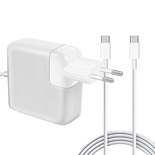 AndMore Cargador Compatible con MacBook Pro 87W, Type C USB-C Cargador de Adaptador de Corriente para 13' 15' Late 2016 Trabajando con MacBook/MacBook Pro (A1534 A1706 A1707 A1708)