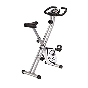 Exercise Bikes SportPlus X-Bike with Heart Rate Monitor – Maintenance Free Magnetic Brake System with 8 Resistance Levels [tag]