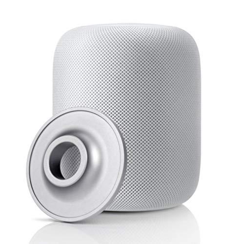 Accken Edelstahl Anti-Rutsch-Pads Halter Lautsprecher Zubehör Schutzfuß Ständer Halterung für Homepod Lautsprecher (Silber)