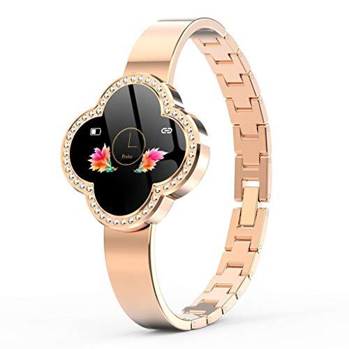 Smart Watch, waterdichte fitnessactiviteitstracker met hartslagmeter, draagbare zuurstof-hartslag-bloeddruk, bluetooth-loop-GPS-stappenteller-sportarmband, dames goud