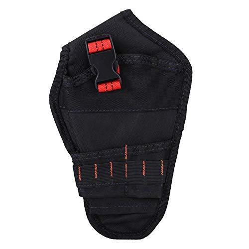 Sac ceinture porte-outils Sacoches organisateur de forage pince électrique multifonctionnel Trousse en Oxford Accessoire Bricolage(Rouge)