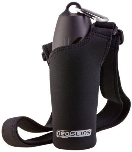H2O4K9 Neoprene Water Bottle Carrier, Jet Black