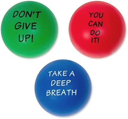 Elibia Set of 3 Motivational Stress Balls for Adults and Kids Hand Exercise Balls Grip Strengthener product image