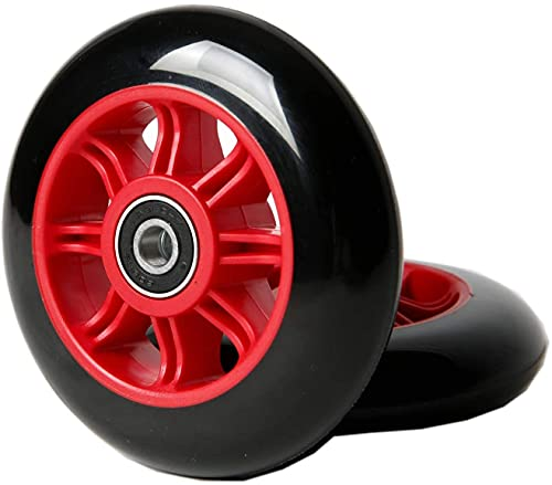 Wxnnx Ruedas de Scooter de 125 mm para Ruedas de Repuesto con rodamientos (Paquete de 2),C