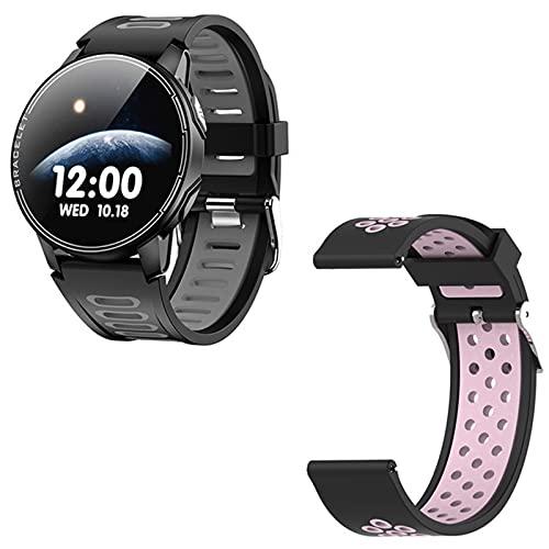 ZYY L6 Smart Watch, IP68 Impermeable Deportes Deportes Smartwatch Fitness Rastro Heart Rastre Tracker Smart Watch Reloj Funciones Adecuadas para iOS Android,C