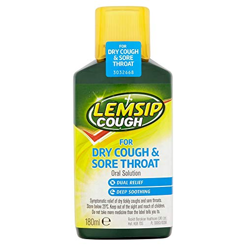 Lemsip Dry Cough and Sore Throat Oral Solution, 180ml
