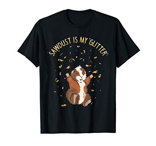 Meerschweinchen Sägespäne Glitzer Meerschweinchen Geschenk T-Shirt