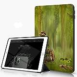 She Charm Carcasa para iPad 10.2 Inch, iPad Air 7.ª Generación,Ardilla Bosque Bosque Seta Piña Erizo Lámpara Mariposa Animal Creativo,Incluye Soporte magnético y Funda para Dormir/Despertar