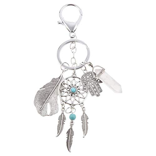 fgyhtyjuu Llavero de aleación atrapasueños Bohemia colgante llavero bolsa colgante anillo ornamento accesorios