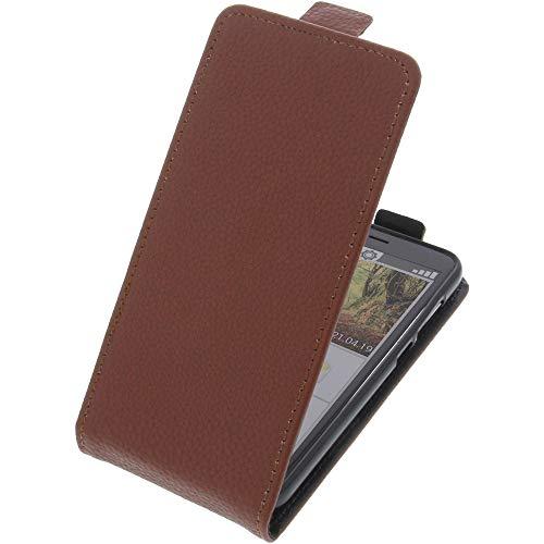 foto-kontor Tasche für Emporia Smart 3 Mini Smartphone Flipstyle Schutz Hülle braun